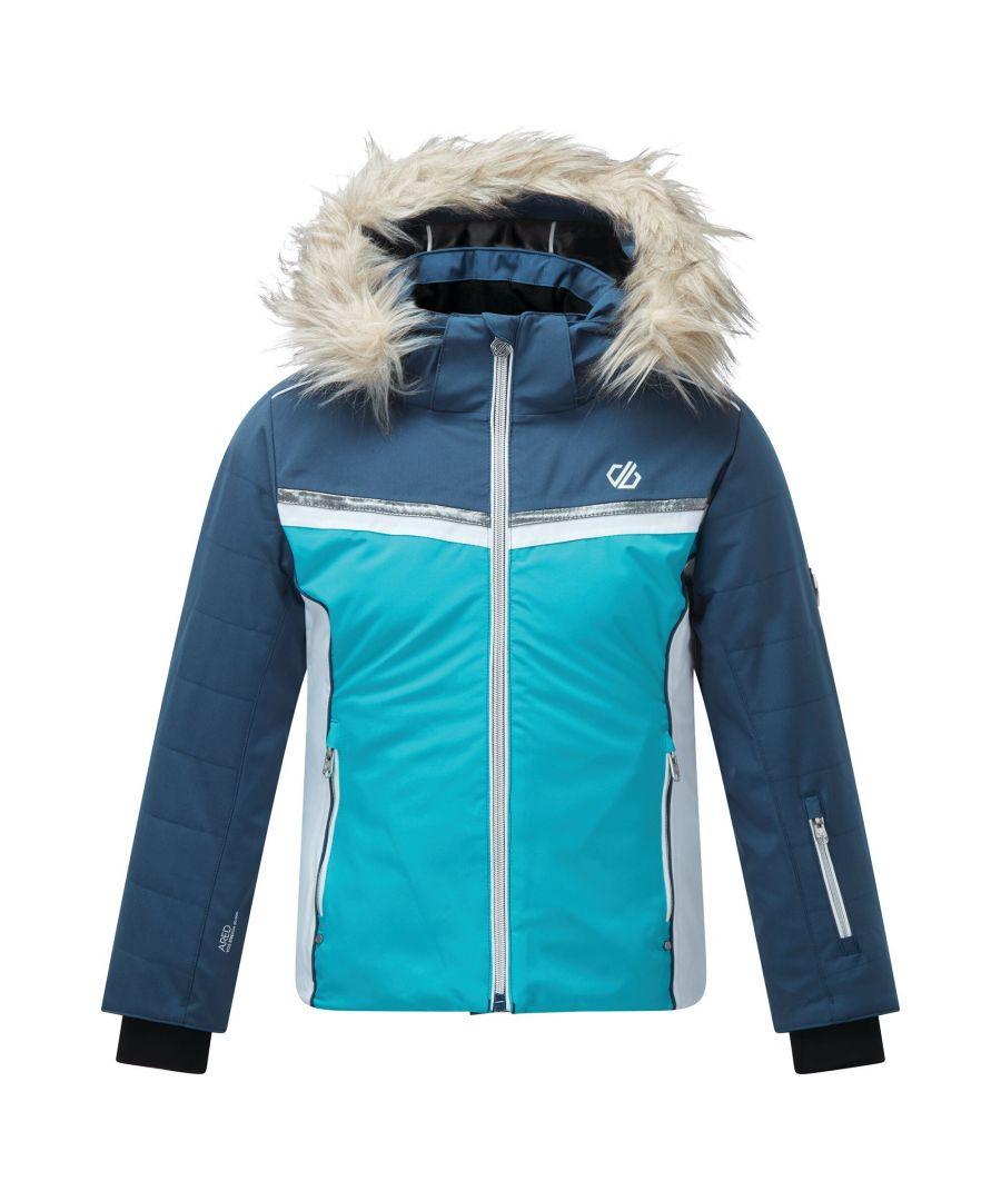 Image for Dare 2B Girls Estimate Ski Jacket (Ceramic Blue/Dark Denim)