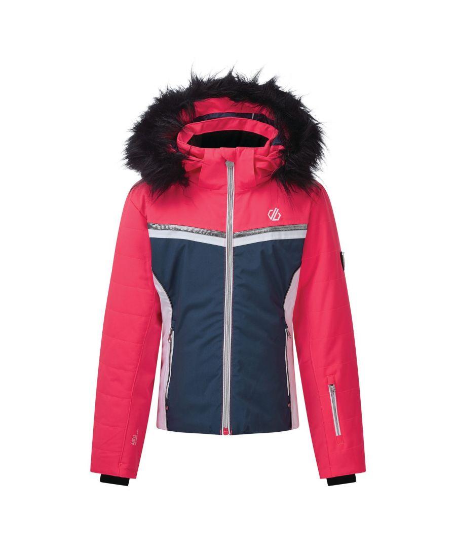 Image for Dare 2B Girls Estimate Ski Jacket (Dark Denim/Neon Pink)