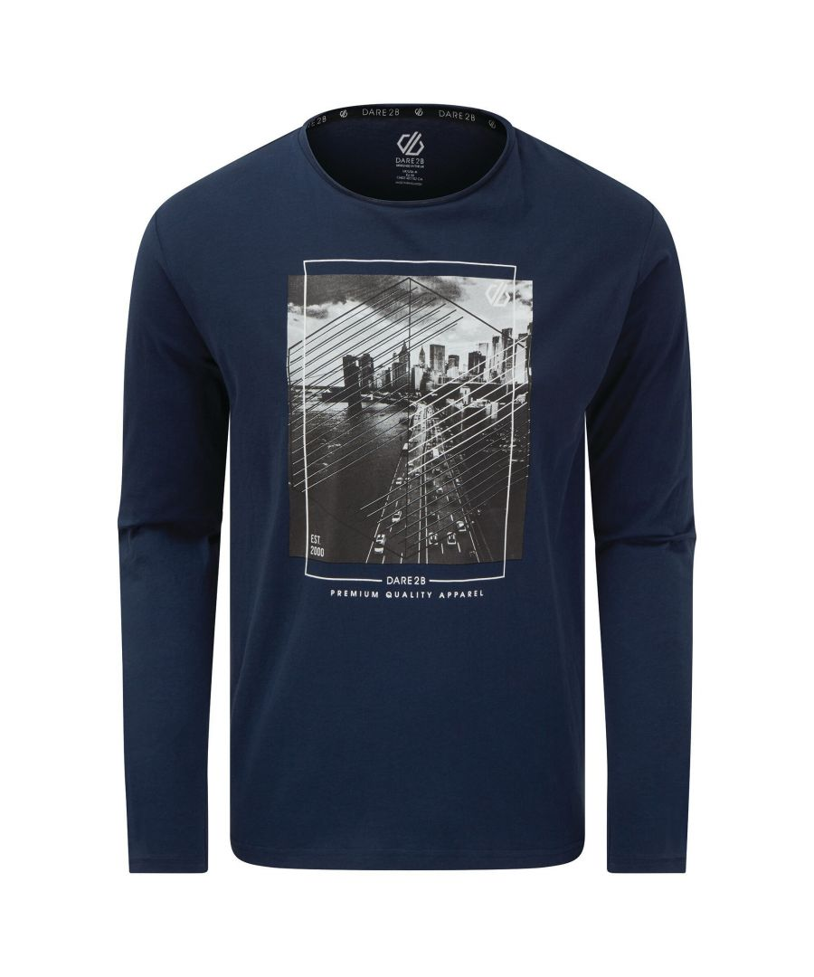 Image for Dare 2B Mens Overdrive T-Shirt (Nightfall Navy Print)