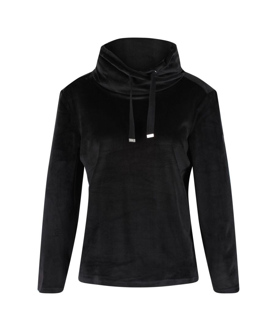 Image for Regatta Womens/Ladies Hannelore Velour Hoodie (Black)