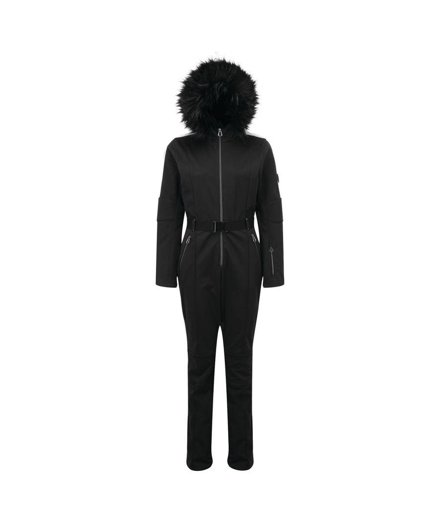 Image for Dare 2B Womens/Ladies Snowfall Ski Suit (Black)