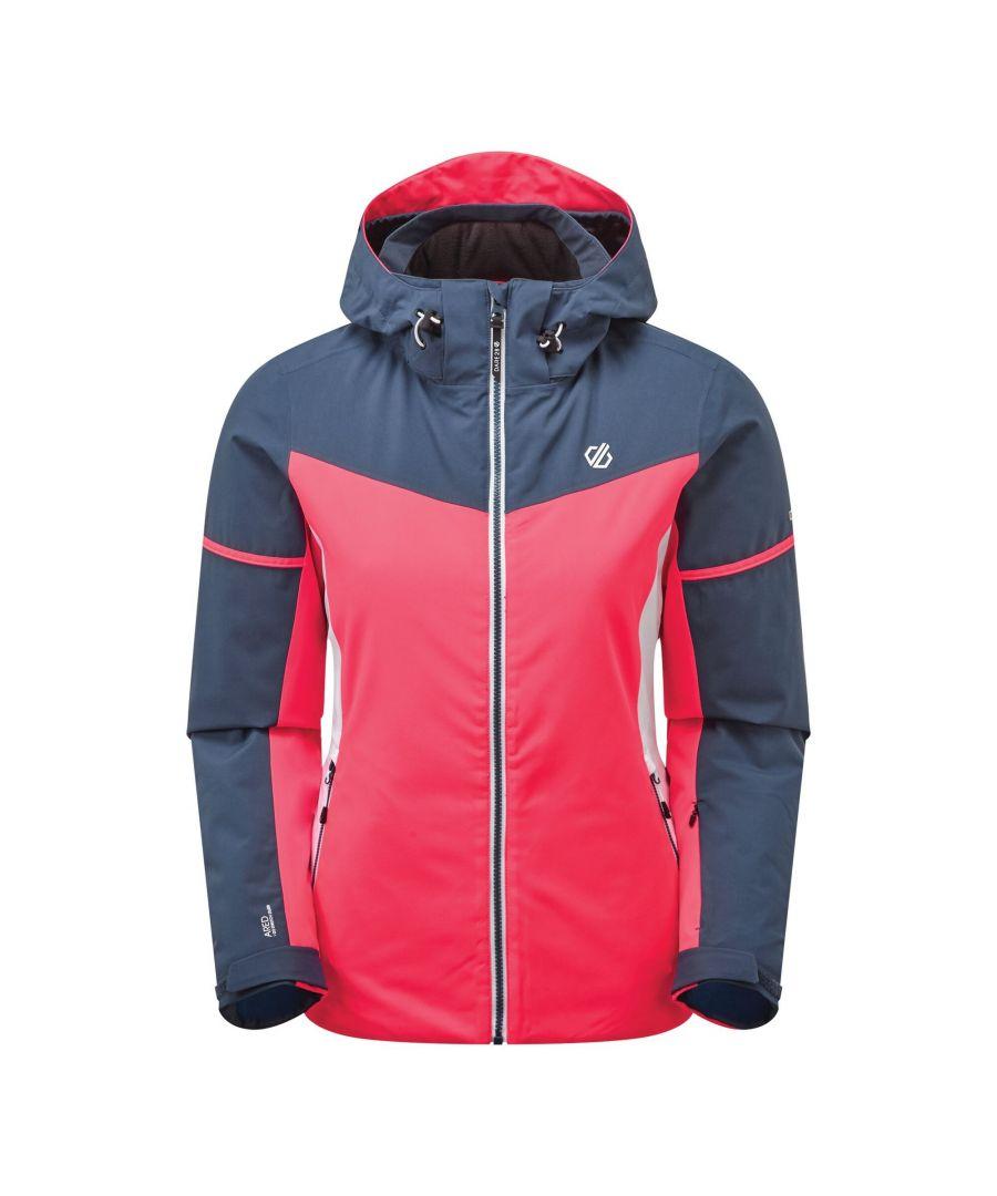 Image for Dare 2B Womens/Ladies Enclave Insulated Ski Jacket (Neon Pink/Dark Denim)