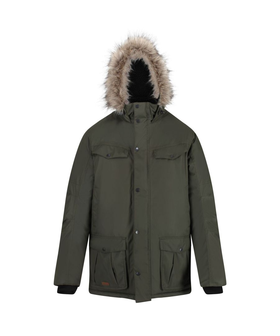 Image for Regatta Mens Adair Waterproof Parka (Dark Khaki)