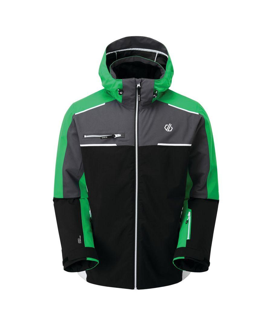 Image for Dare 2B Mens Intermit II Waterproof Ski Jacket (Black/Vivid Green)