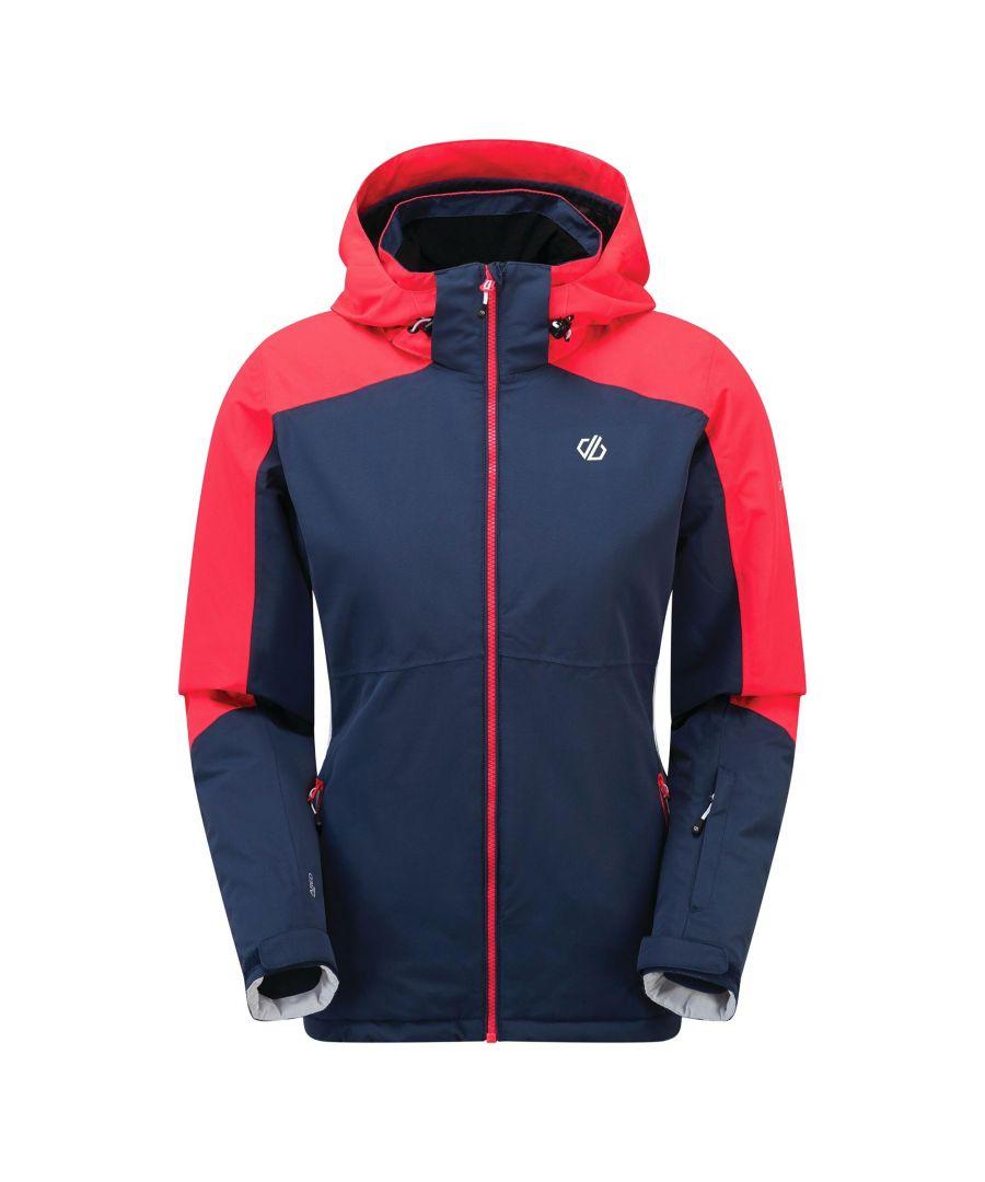 Image for Dare 2B Womens/Ladies Radiate Ski Jacket (Dark Denim/Neon Pink)