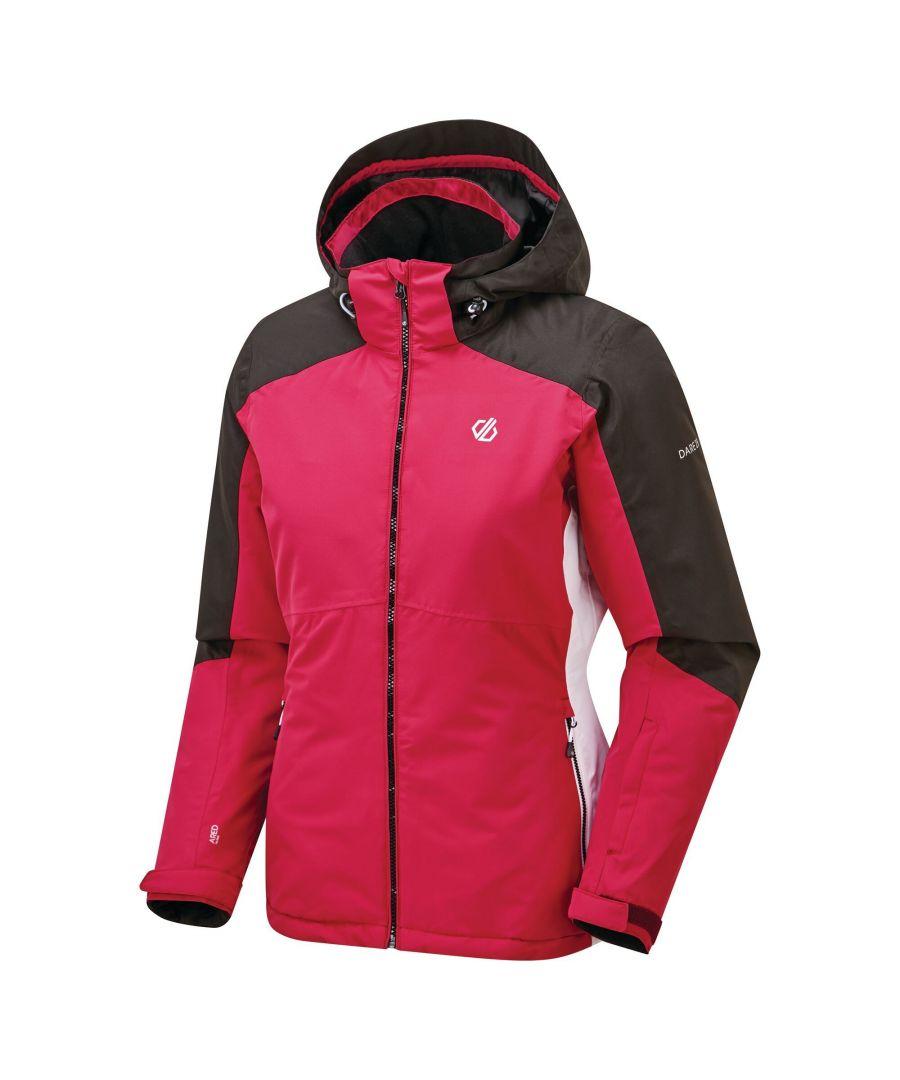 Image for Dare 2B Womens/Ladies Radiate Ski Jacket (Active Pink/Black/White)