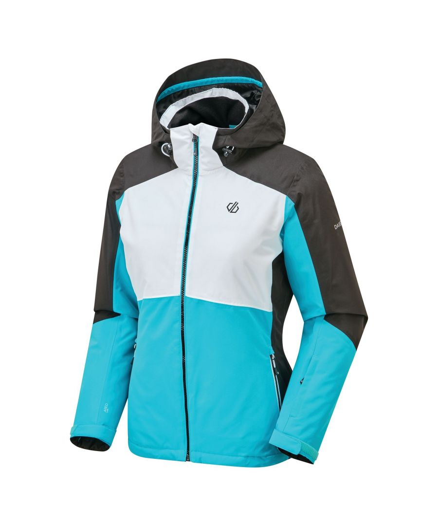 Image for Dare 2B Womens/Ladies Radiate Ski Jacket (Azure Blue/White/Black)