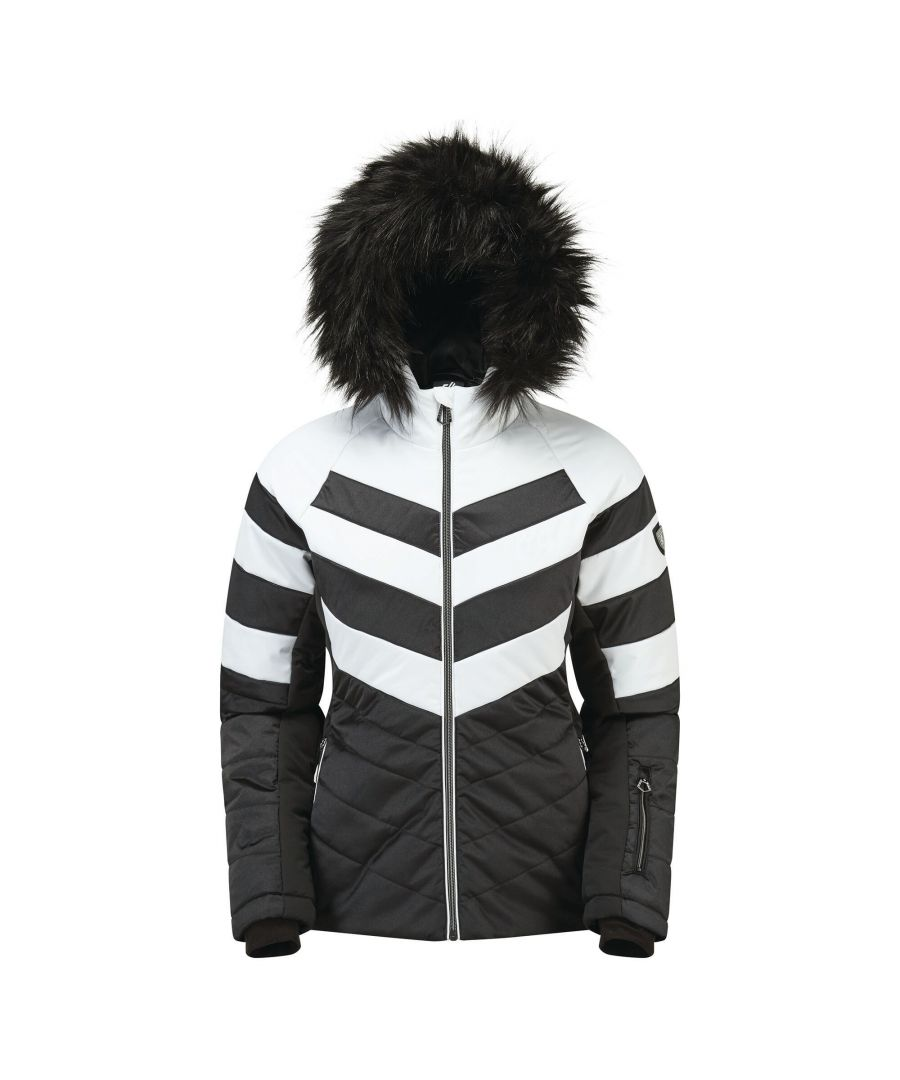 Image for Dare 2B Womens/Ladies Dazzling Ski Jacket (Black/White)