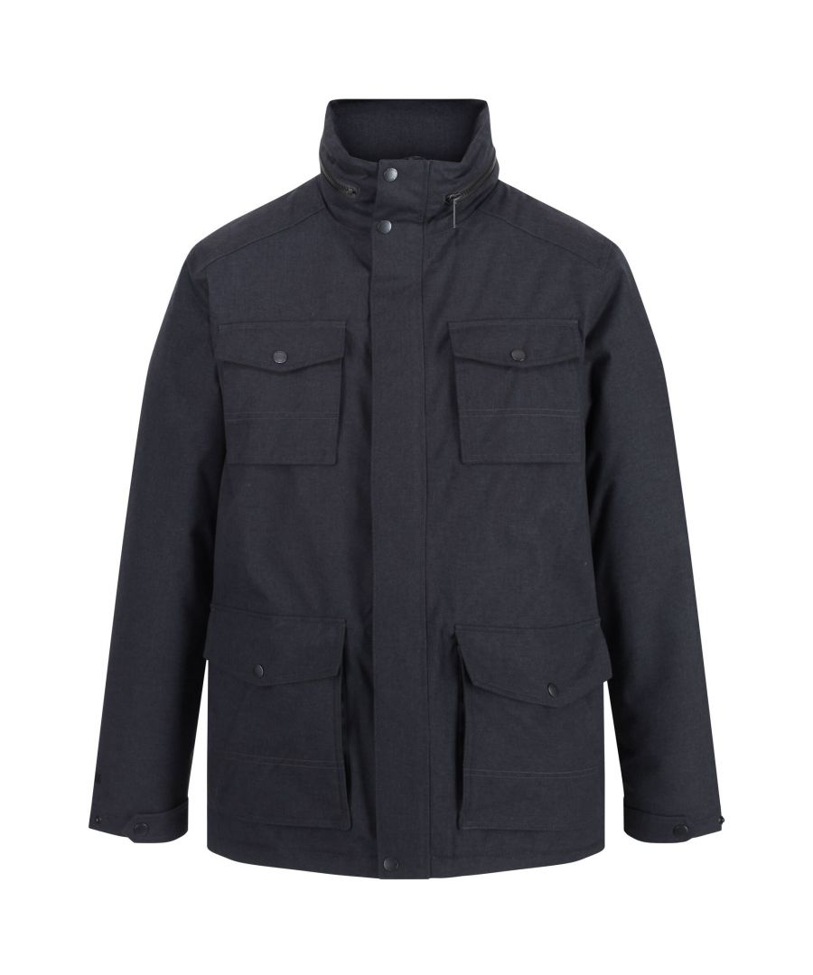 Image for Regatta Mens Eneko Waterproof Insulated Jacket (Seal Grey)