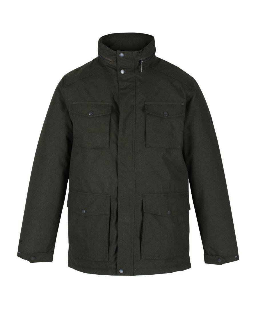 Image for Regatta Mens Eneko Waterproof Insulated Jacket (Dark Khaki)