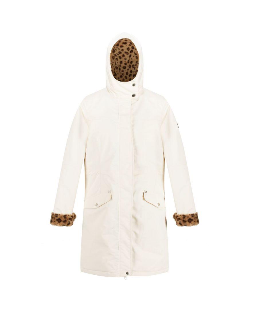 Image for Regatta Womens/Ladies Rimona Hooded Waterproof Jacket (Light Vanilla)