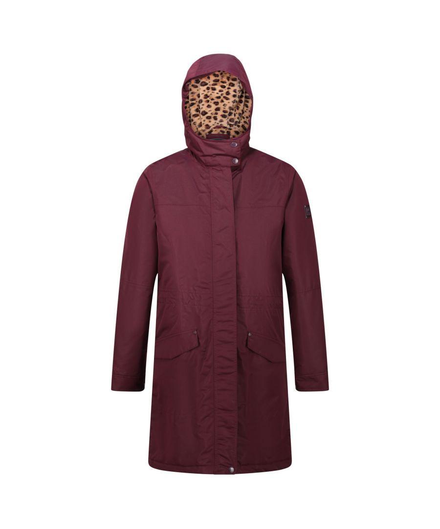 Image for Regatta Womens/Ladies Rimona Hooded Waterproof Jacket (Dark Burgundy)
