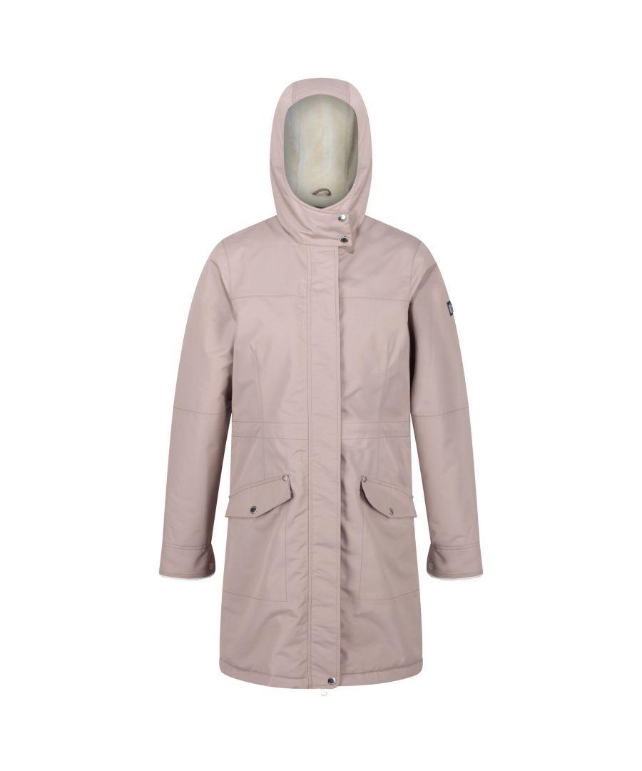 Image for Regatta Womens/Ladies Rimona Hooded Waterproof Jacket (Stone)