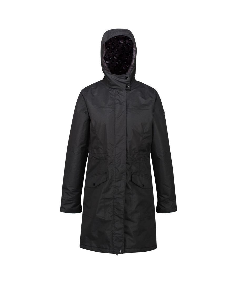 Image for Regatta Womens/Ladies Rimona Hooded Waterproof Jacket (Black)