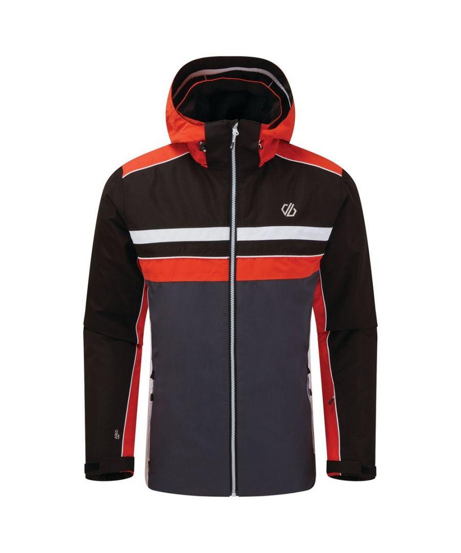Image for Dare 2B Mens Vindicator Ski Jacket (Ebony Grey/Trail Blaze Red)
