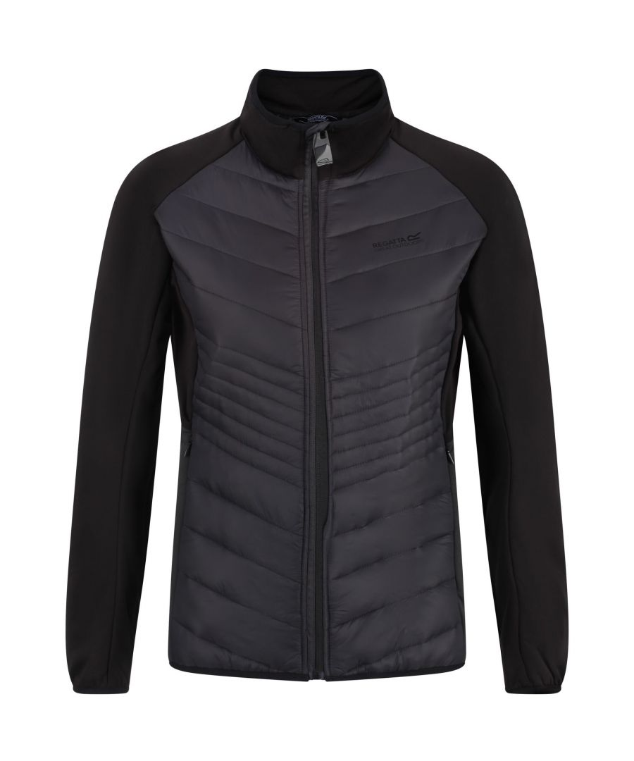 Image for Regatta Womens/Ladies Clumber Hybrid Insulated Jacket (Ash/Black)