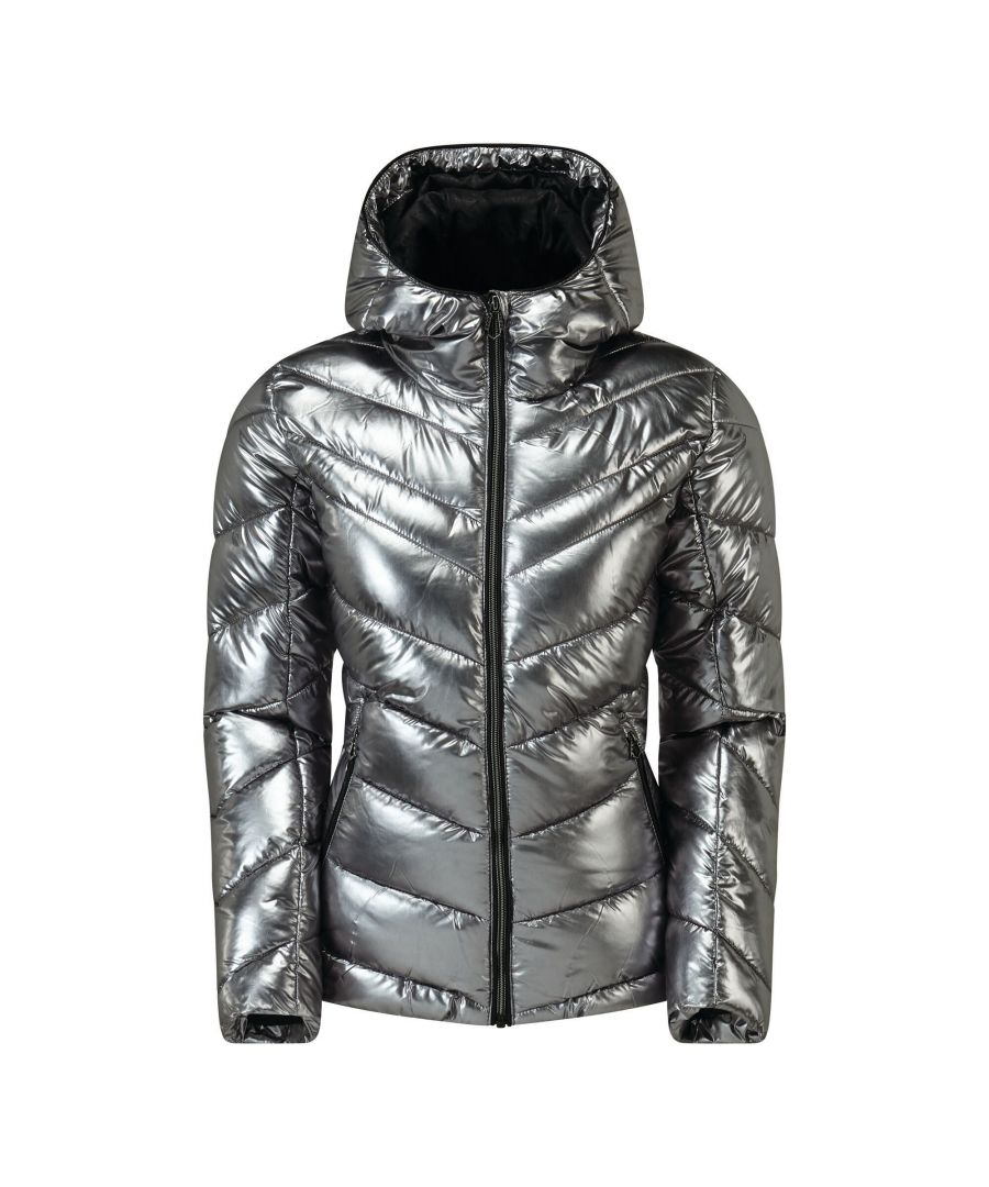 Image for Dare 2B Womens/Ladies Reputable Swarovski Insulated Jacket (Chrome)