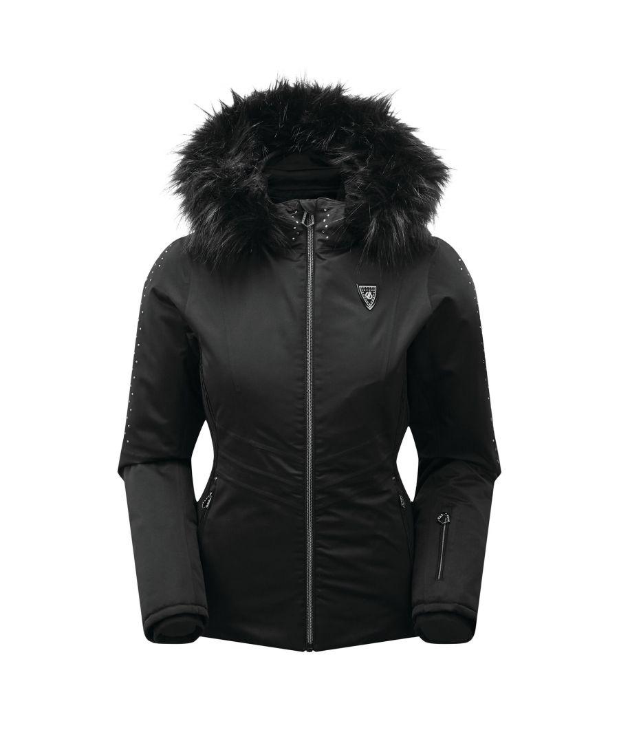 Image for Dare 2B Womens/Ladies Bejewel Swarovski Ski Jacket (Black/Black)
