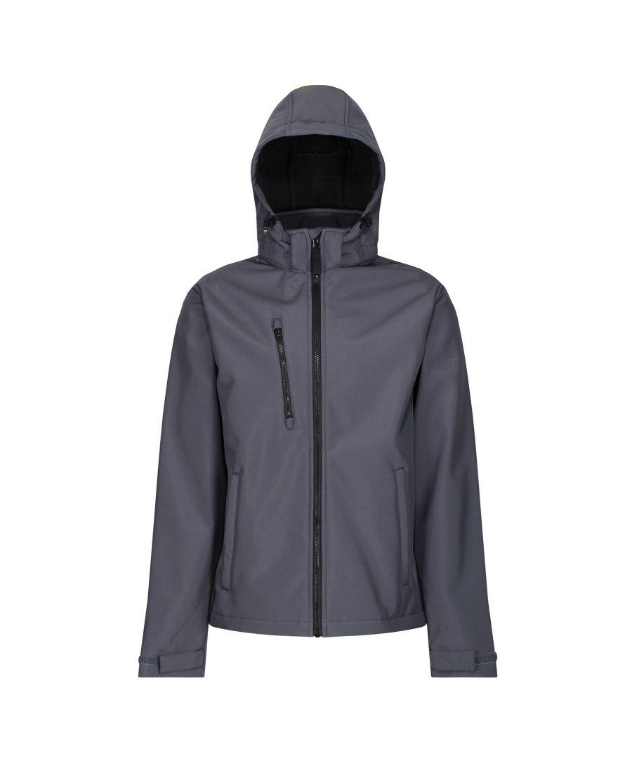 Image for Regatta Mens Venturer 3 Layer Membrane Soft Shell Jacket (Seal Grey/Black)