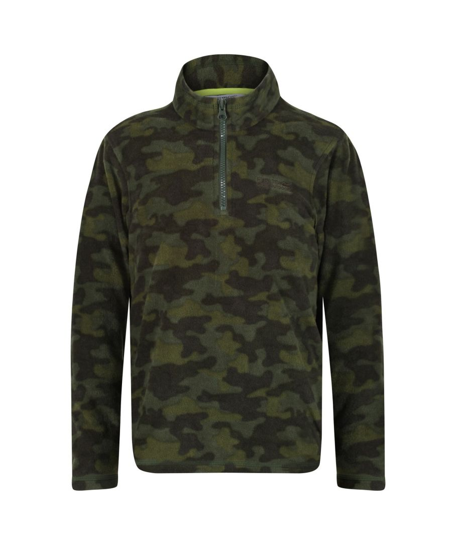 Image for Regatta Great Outdoors Kids Outdoor Classics Lovely Jubblie Fleece Top (Racing Green/Camo)