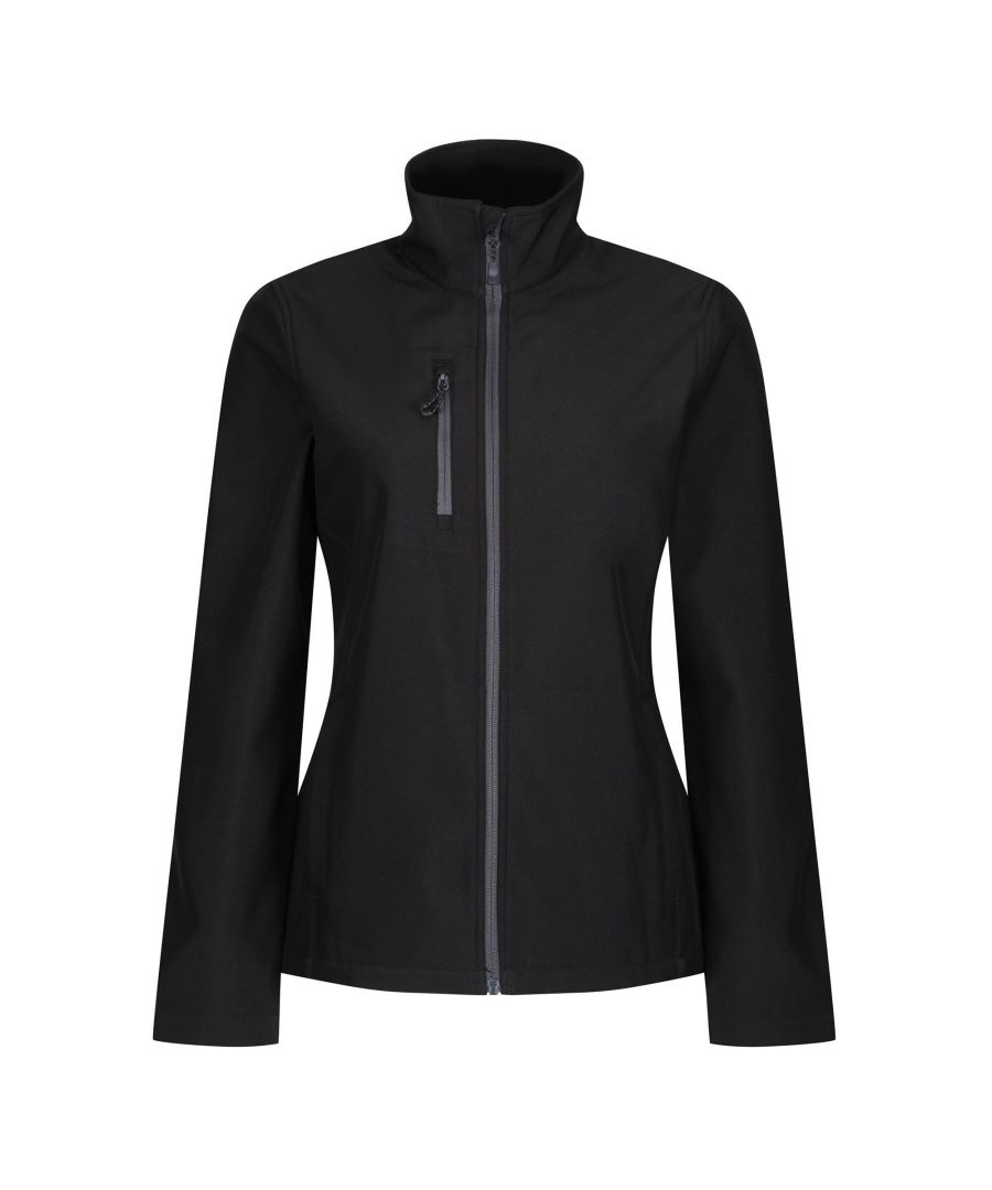 Image for Regatta Womens/Ladies Honestly Made Recycled Full Zip Fleece (Black)