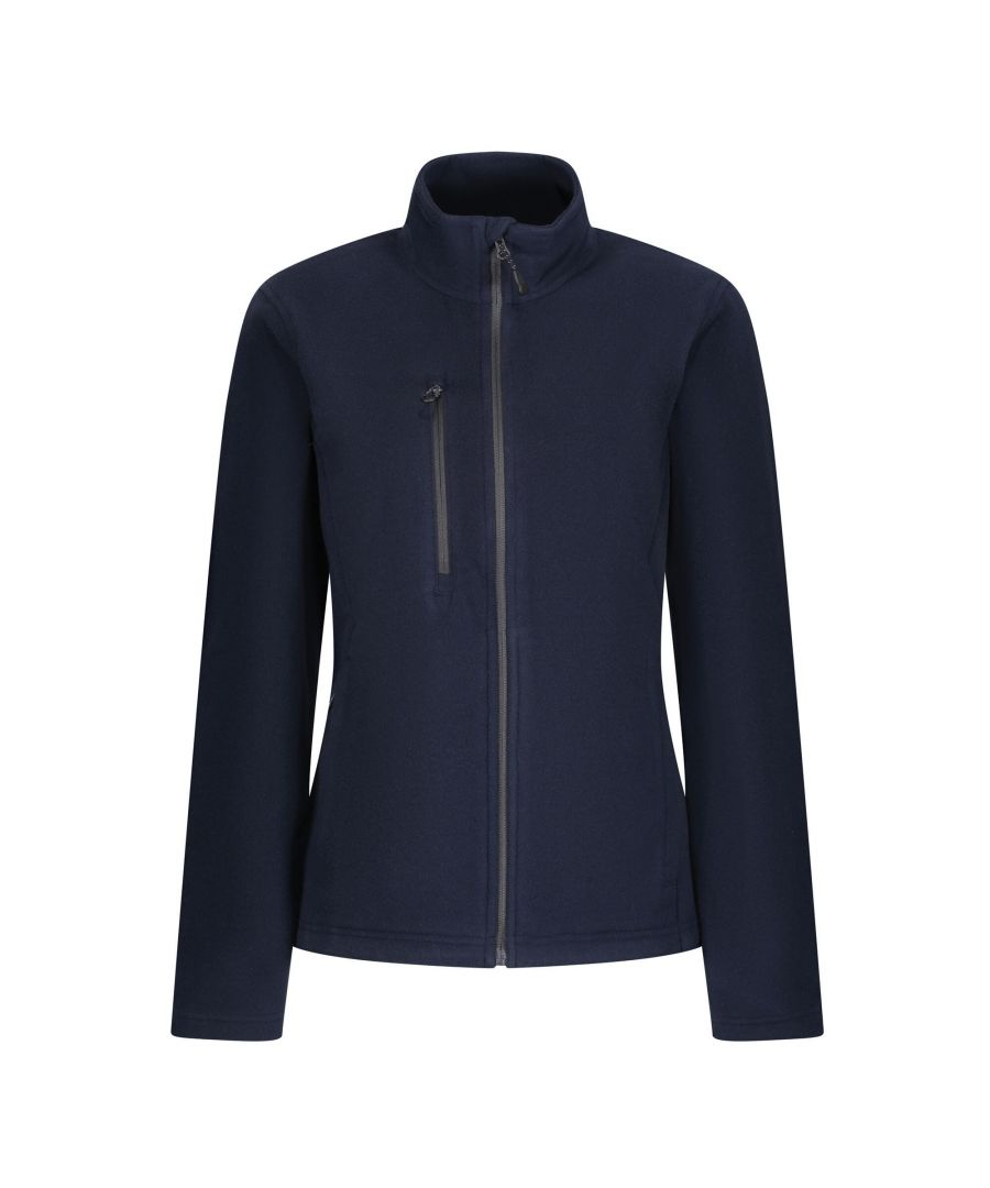Image for Regatta Womens/Ladies Honestly Made Recycled Full Zip Fleece (Navy)