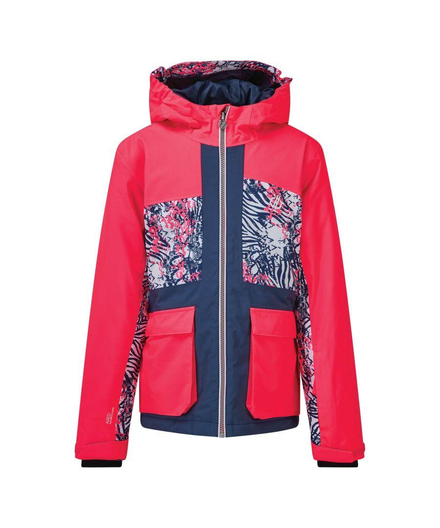 Image for Dare 2B Childrens/Kids Esteem Insulated Ski Jacket (Neon Pink/Dark Denim)