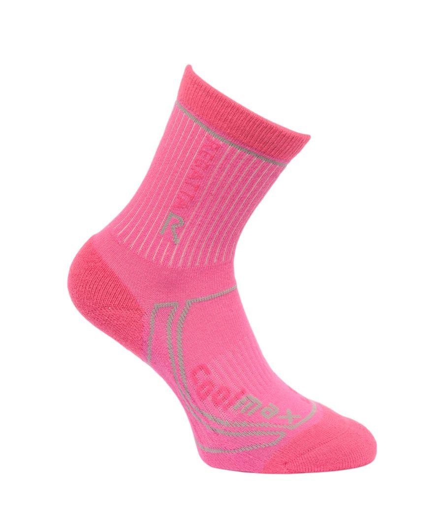 Image for Regatta Great Outdoors Childrens/Kids 2 Season Coolmax Trek & Trail Socks (Raspberry Rose/Jem)