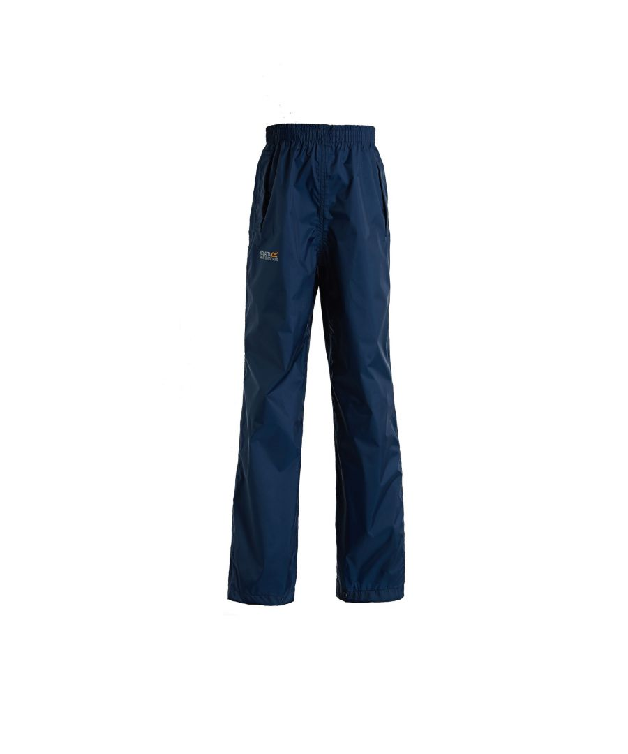 Image for Regatta Great Outdoors Kids Boys Adventure Tech Pack It Waterproof Overtrousers
