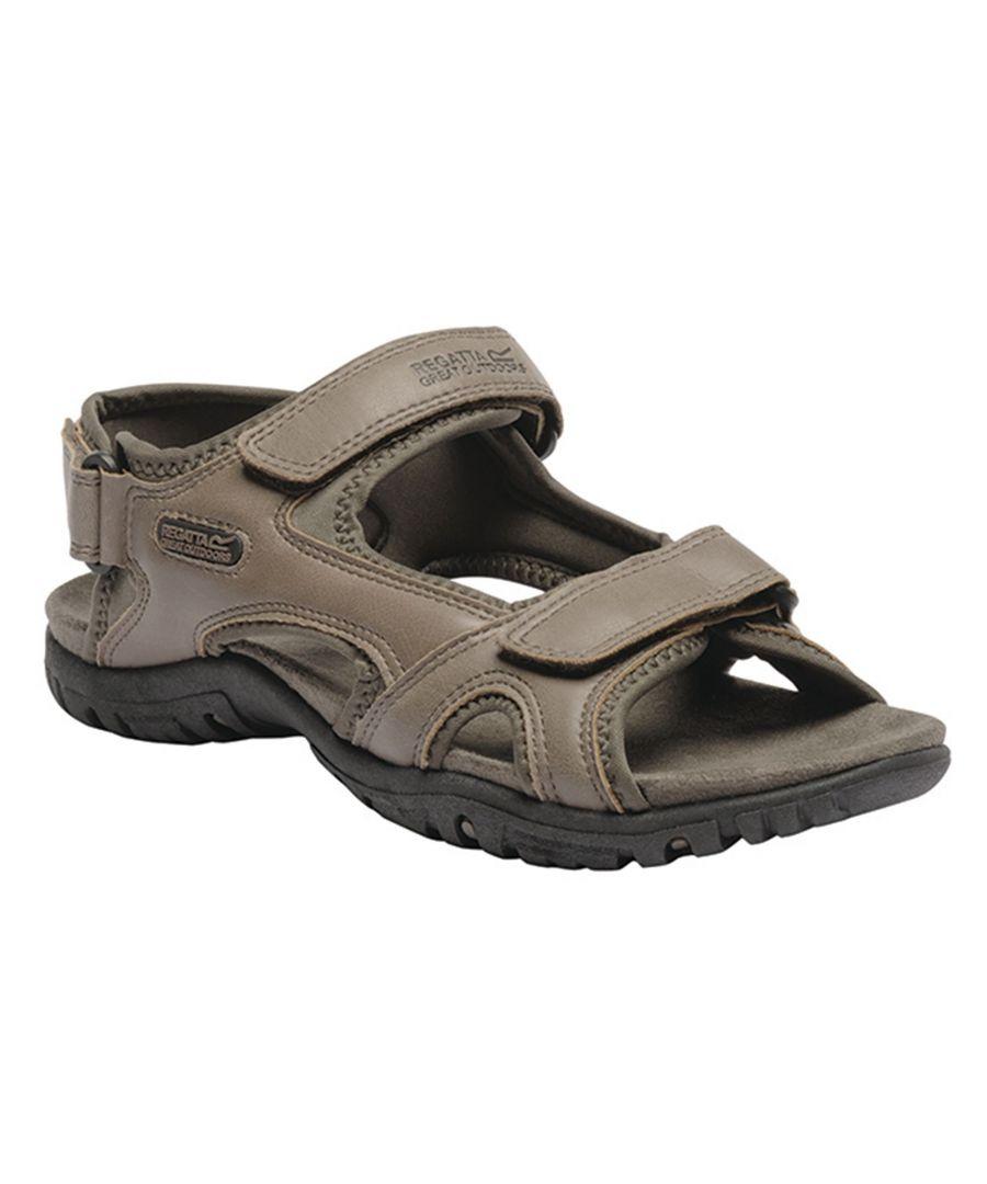Image for Regatta Great Outdoors Mens Haris Sandals (Walnut/Tree Top)