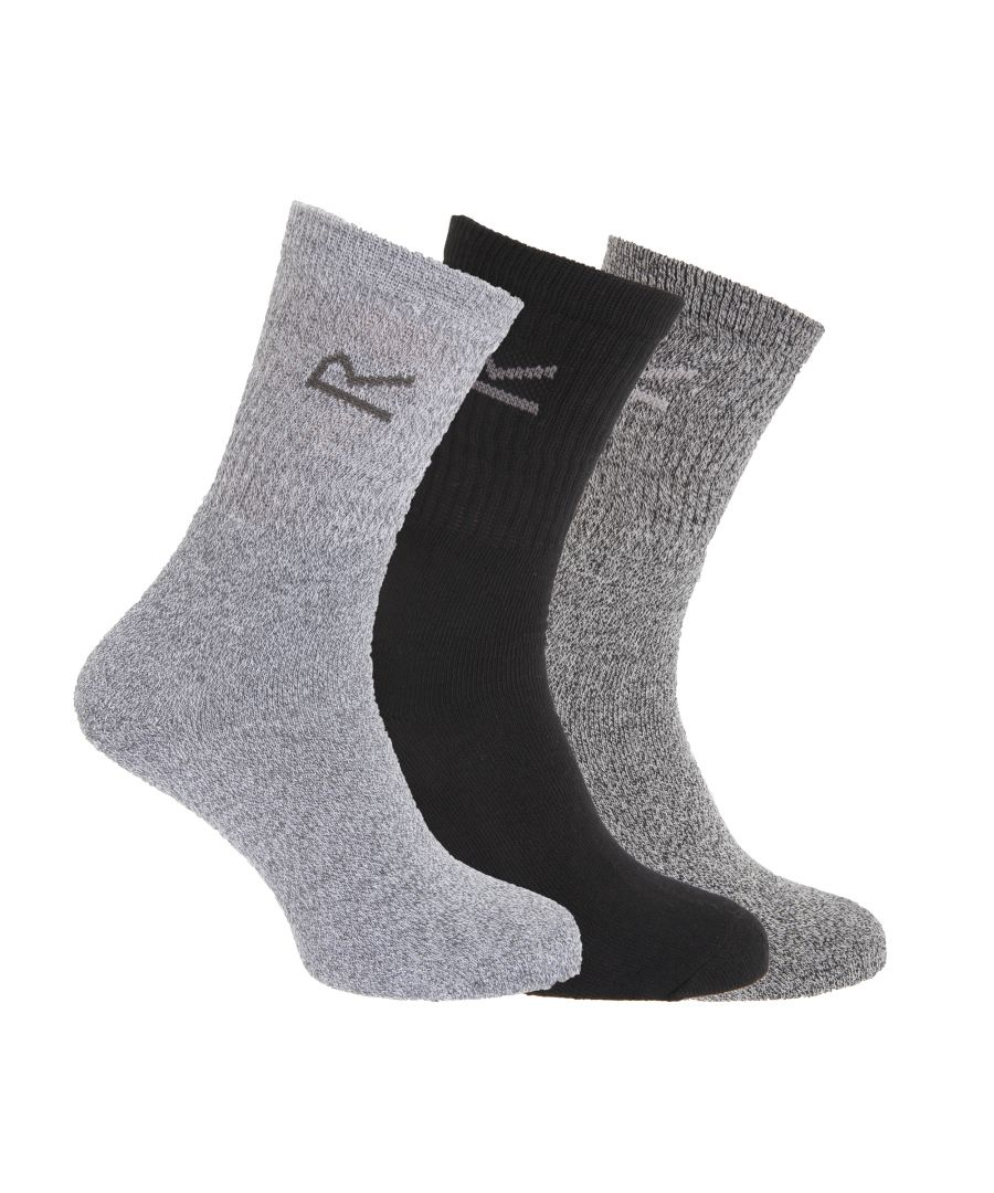 Image for Regatta Great Outdoors Mens Cotton Rich Casual Socks (Pack Of 3)