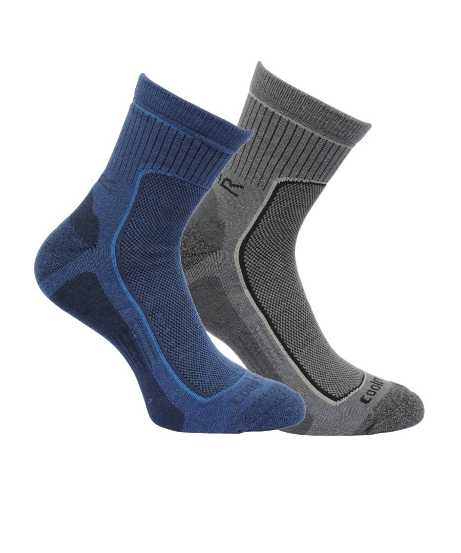 Image for Regatta Great Outdoors Mens Cushioned Active Lifestyle Walking Socks (Pack Of 2)