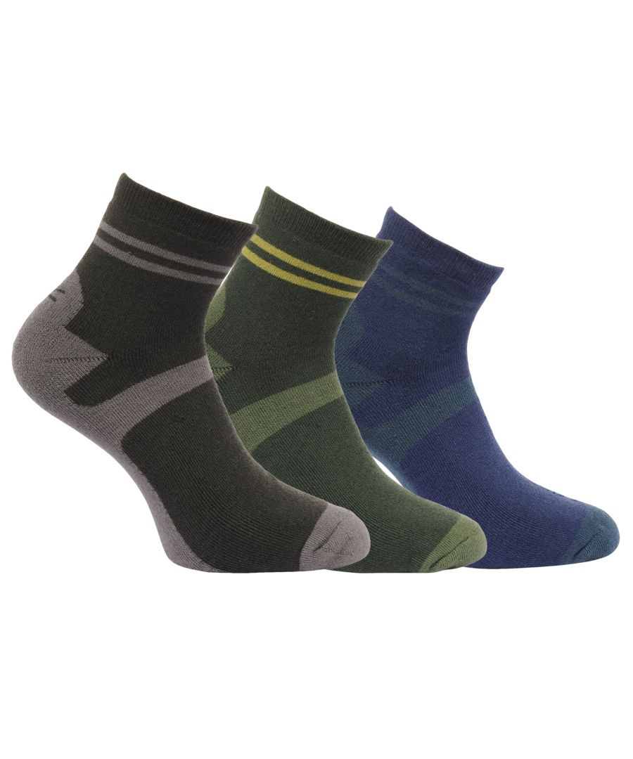 Image for Regatta Great Outdoors Mens Active Lifestyle Walking Socks (Pack Of 3)