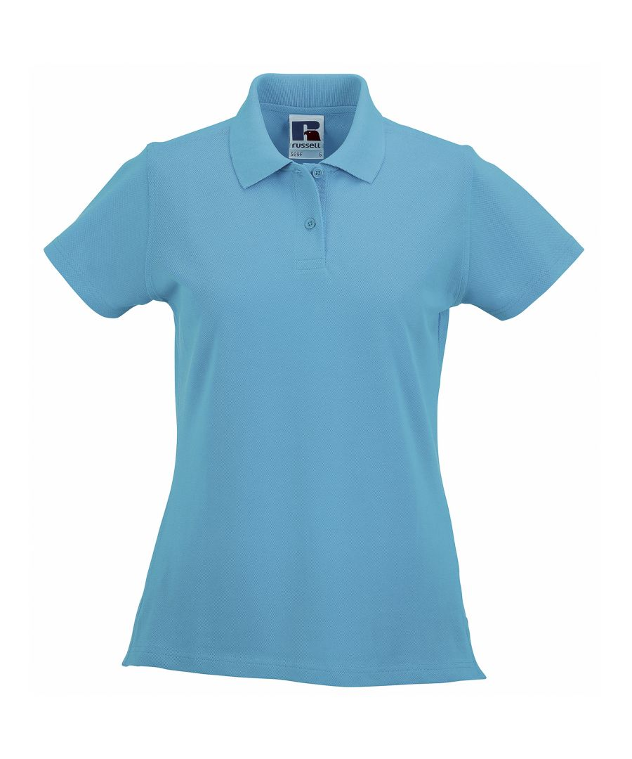 Image for Russell Europe Womens/Ladies Classic Cotton Short Sleeve Polo Shirt (Turquoise)