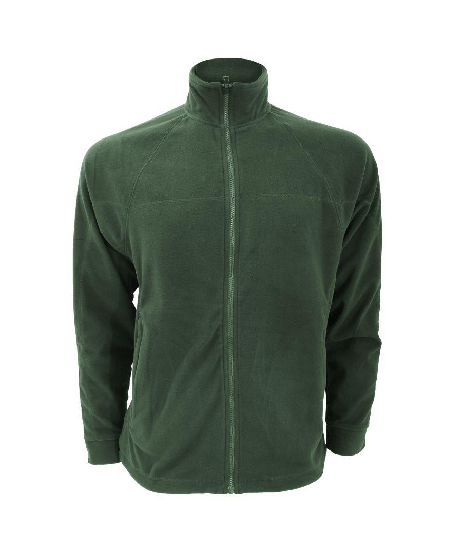 Image for Craghoppers Mens Basecamp Microfleece FZ Full Zip Jacket (Dark Green)