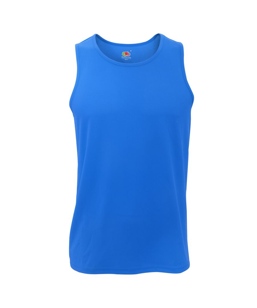 Image for Fruit Of The Loom Mens Moisture Wicking Performance Vest Top