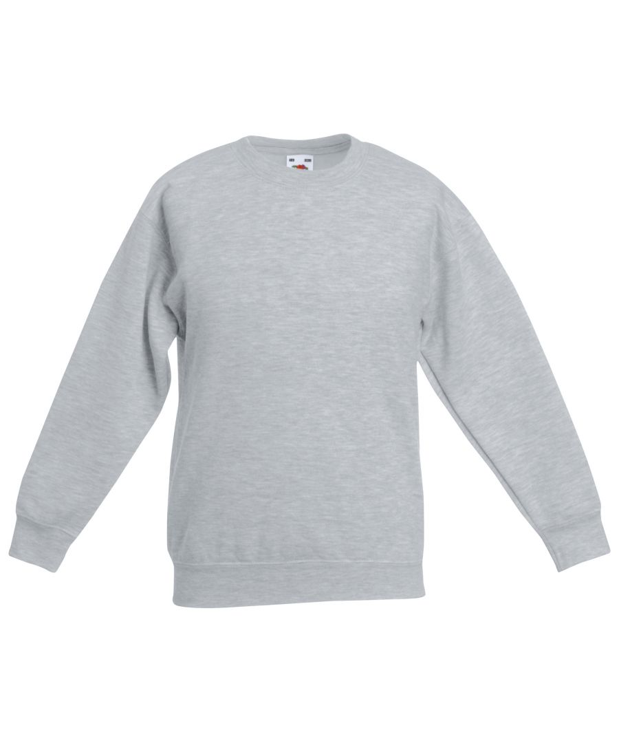 Image for Fruit Of The Loom Kids Unisex Classic 80/20 Set-In Sweatshirt (Pack of 2)