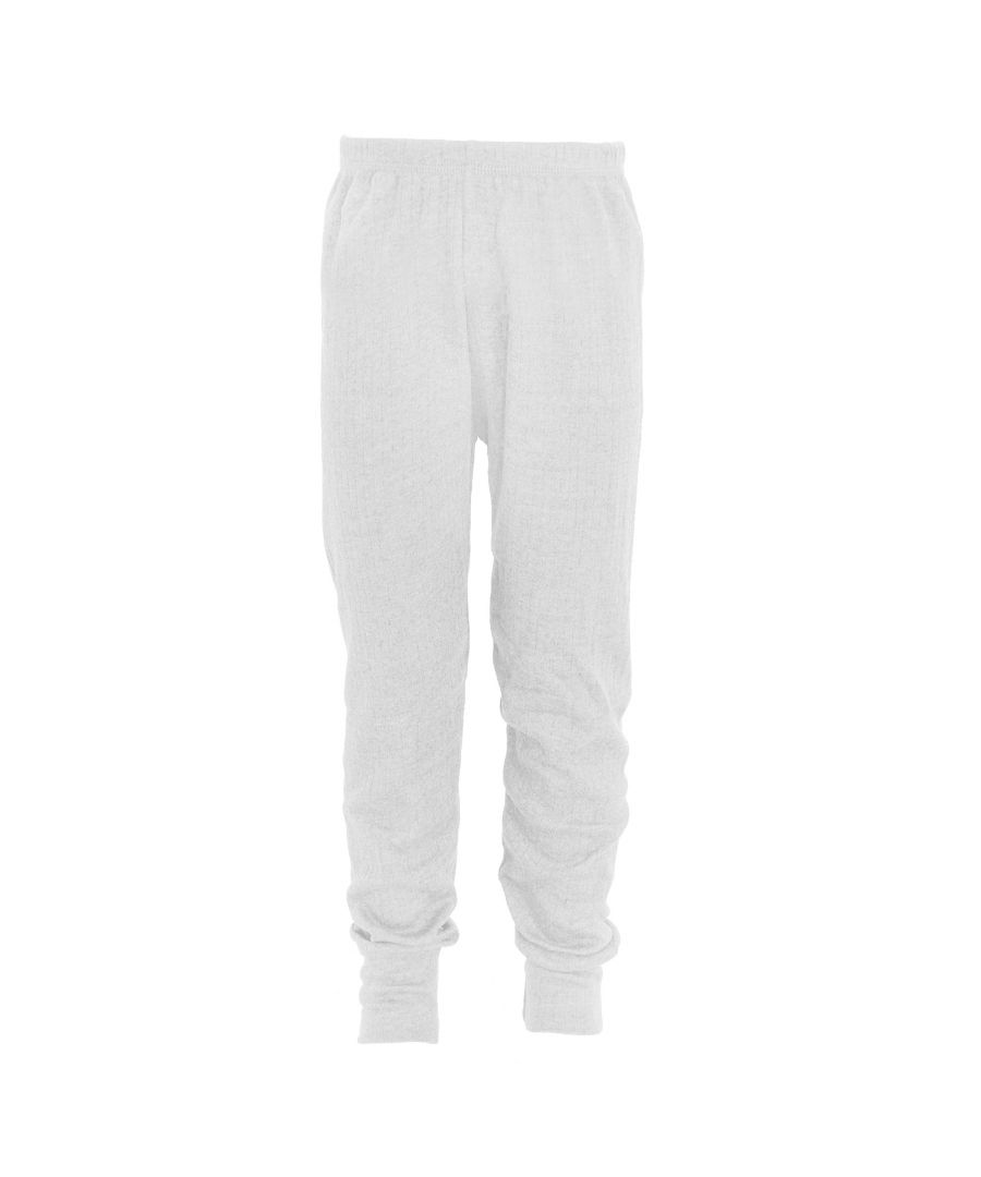Image for FLOSO Unisex Childrens/Kids Thermal Underwear Long Johns/Pants (White)