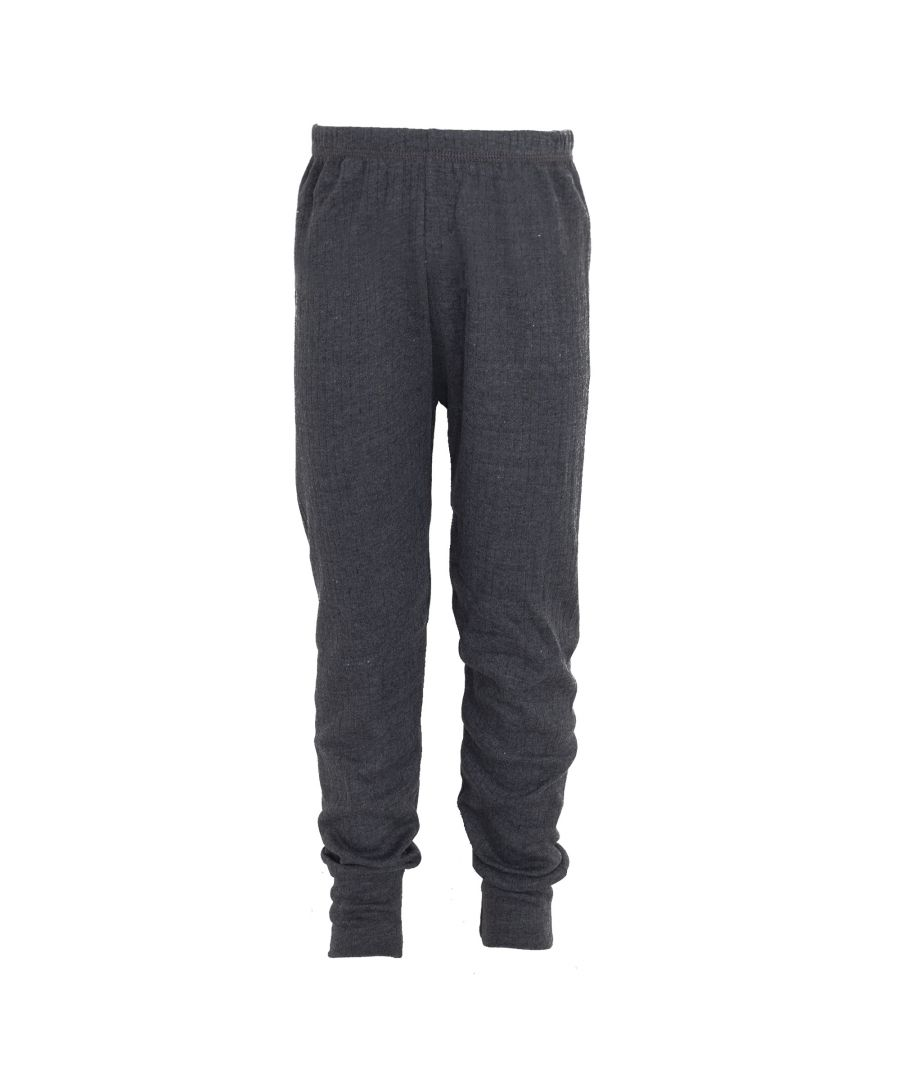 Image for FLOSO Unisex Childrens/Kids Thermal Underwear Long Johns/Pants (Charcoal)