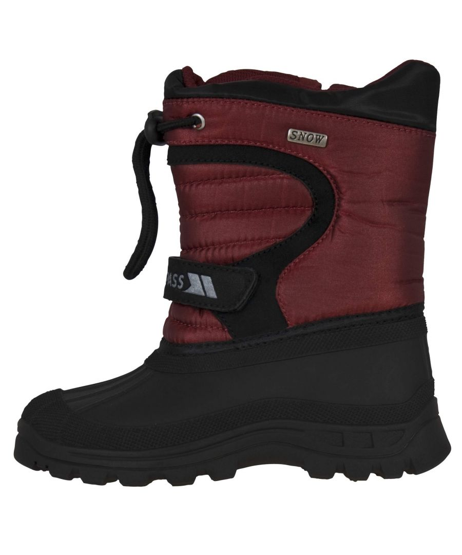 Image for Trespass Youths Unisex Kukun Pull On Winter Snow Boots (Red)