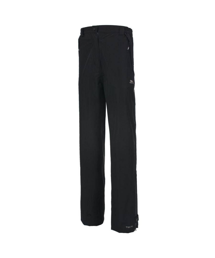 Image for Trespass Womens/Ladies Lorena Waterproof Overtrousers (Black)