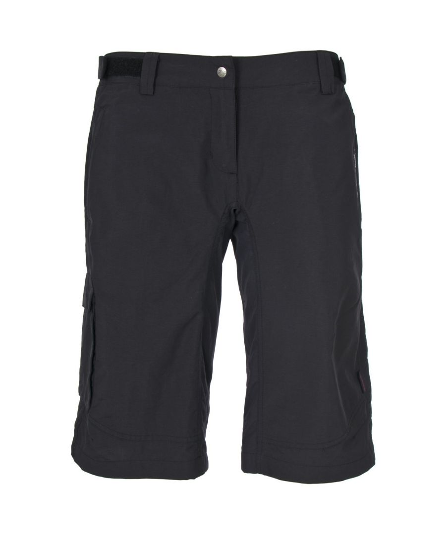 Image for Trespass Womens/Ladies Craving Long Length Quick Dry Shorts (Black)
