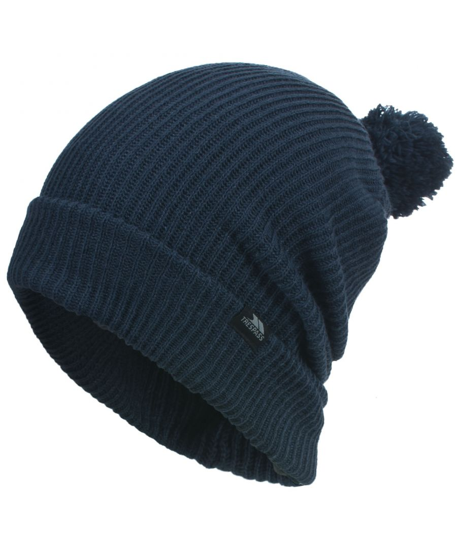 Image for Trespass Mens Karev Knitted Slouch Winter Hat
