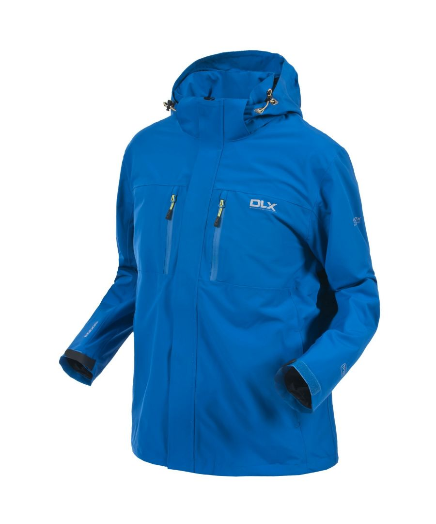 Image for Trespass Mens Oswalt DLX Waterproof Jacket (Electric Blue)