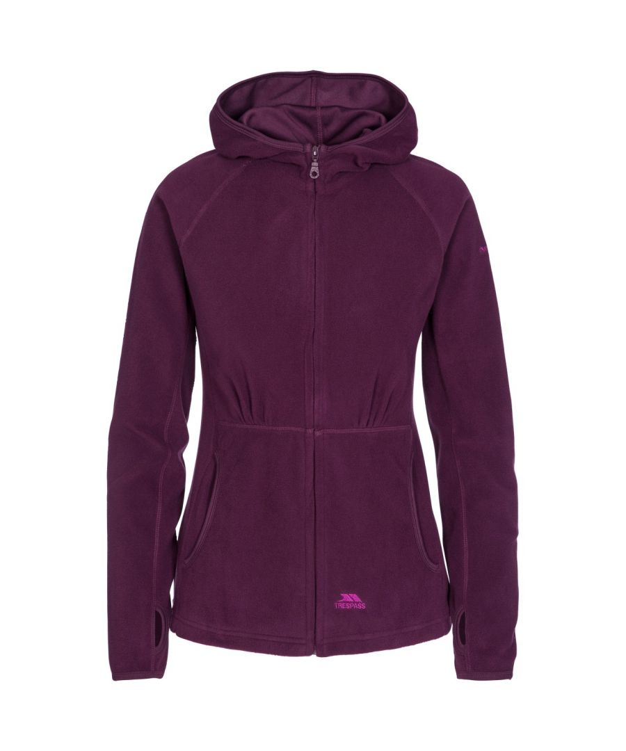 Image for Trespass Womens/Ladies Marathon Hooded Full Zip Fleece Jacket