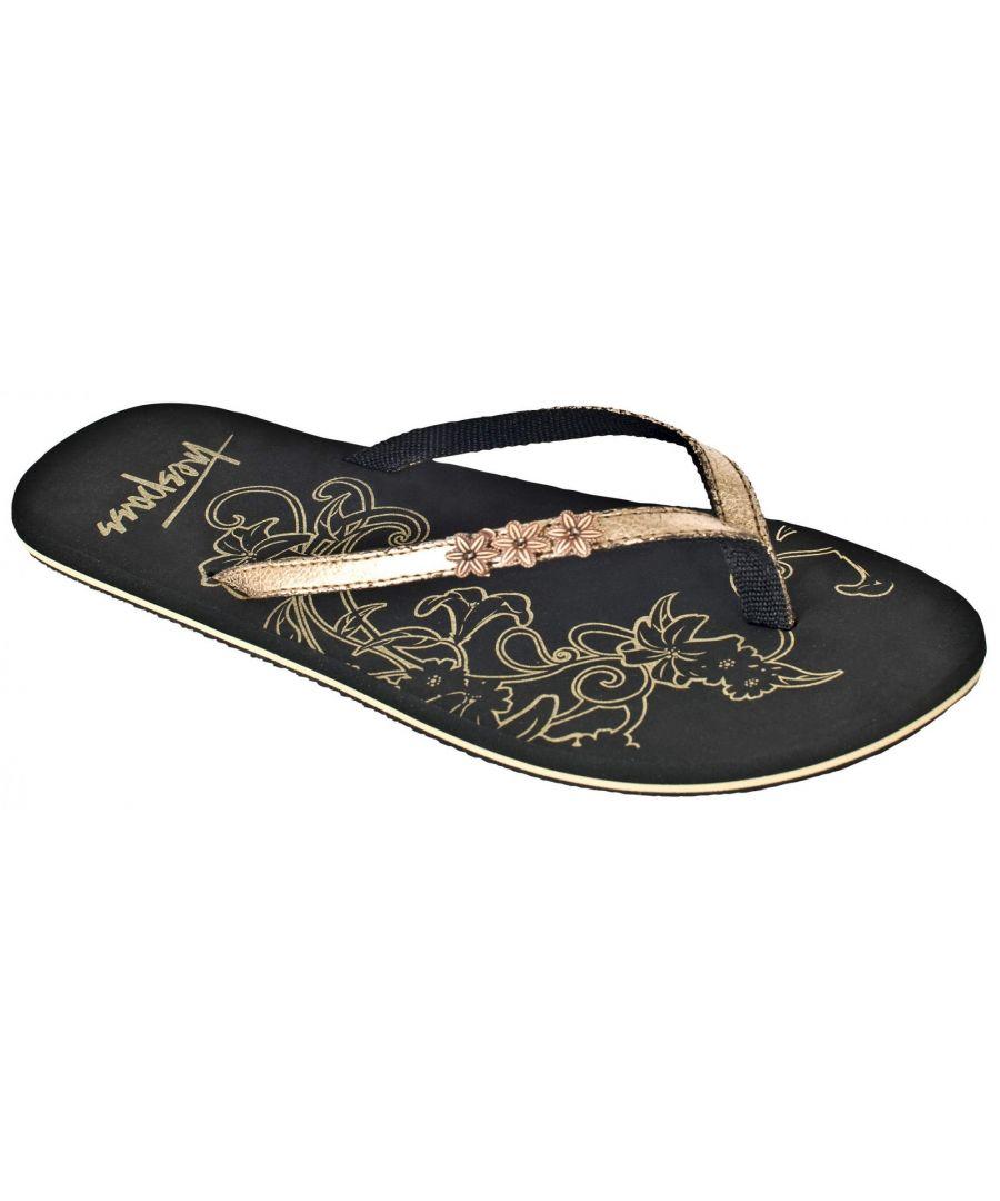 Image for Trespass Womens/Ladies Hidden Metallic Flip Flops