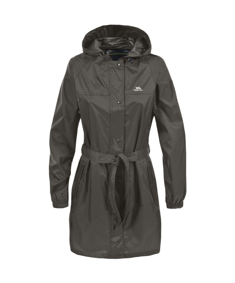 Image for Trespass Womens/Ladies Compac Mac Waterproof Packaway Jacket/Coat