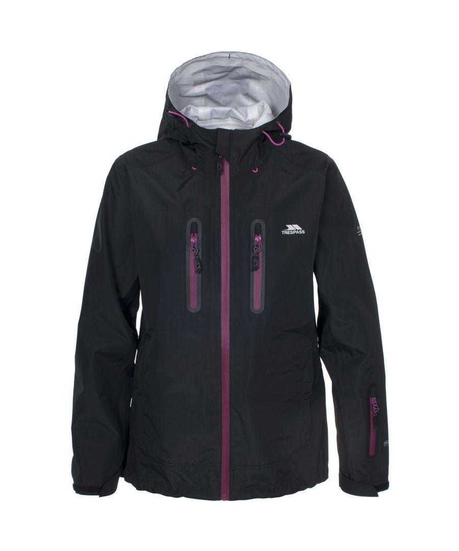 Image for Trespass Womens/Ladies Weldona Waterproof Jacket (Black)