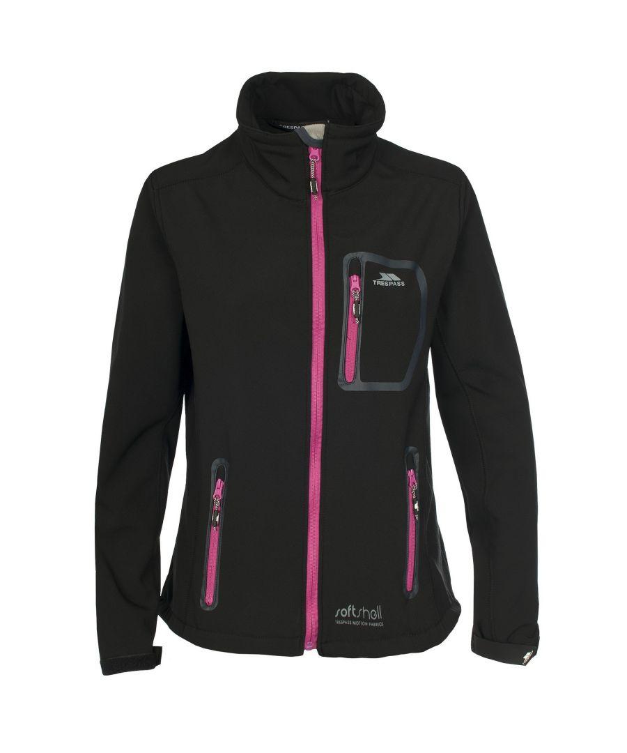 Image for Trespass Womens/Ladies Homelake Windproof Softshell Jacket (Black)