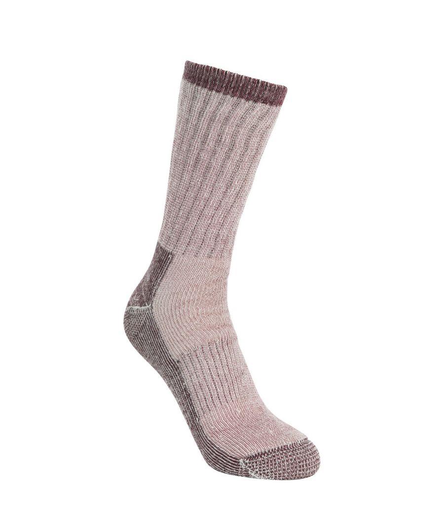 Image for Trespass Womens/Ladies Springer Hiking Boot Socks (1 Pair) (Fig Marl)